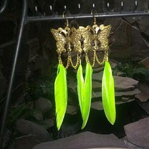 Earrings Butterfly/Feathers
